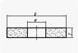 Круги прямого профиля (тип 1)