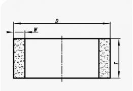 Шлифовальные круги кольцевые (тип 2)