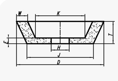Круги чашечные конические (тип 11)