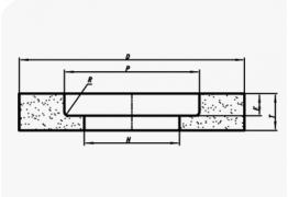 Шлифовальные круги прямого профиля с выточкой (тип 5)