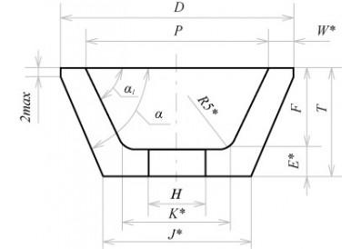 Керамические круги чашечные конические (тип 11)