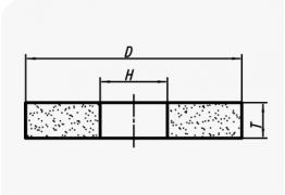Керамические круги прямого профиля (тип 1)