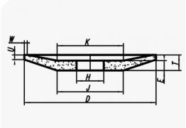 Шлифовальные круги тарельчатые (тип 12)