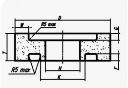 Круги с двусторонней выточкой и ступицей (тип 10)