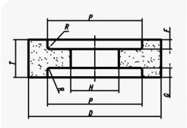 Шлифовальные круги с двусторонней выточкой (тип 7)