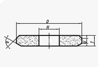 Шлифовальные круги двустороннего конического профиля (тип 4)