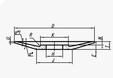 Шлифовальные круги тарельчатые (тип 14)