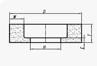 Керамические круги чашечные цилиндрические (тип 6)