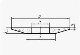 Шлифовальные круги конического профиля (тип 3)
