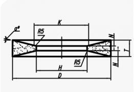 Шлифовальные круги с двусторонней выборкой (тип 21)