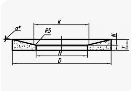 Шлифовальные круги с выборкой (тип 20)