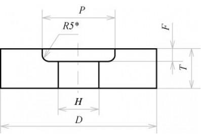 Круги с выточкой (тип 5)